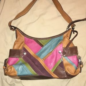 Beautiful patchwork Fossil bag